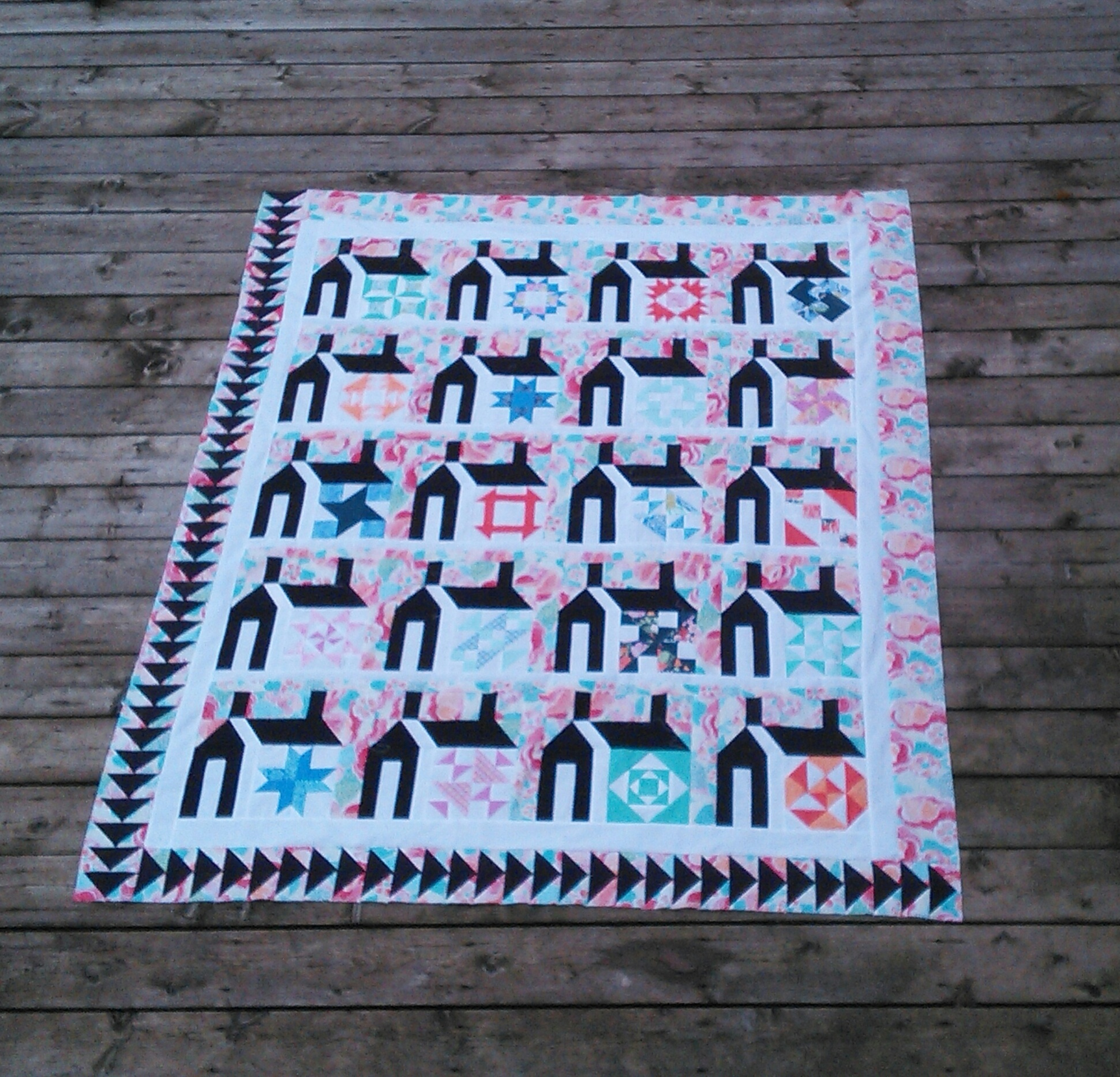 Just Takes 2 Schoolhouse Quilt