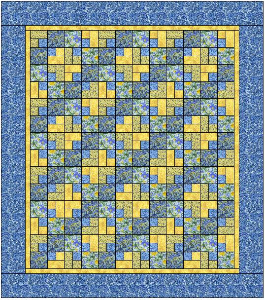 Sentimental Stitches | Blue Lake Beach Quilt : blue and yellow quilt - Adamdwight.com