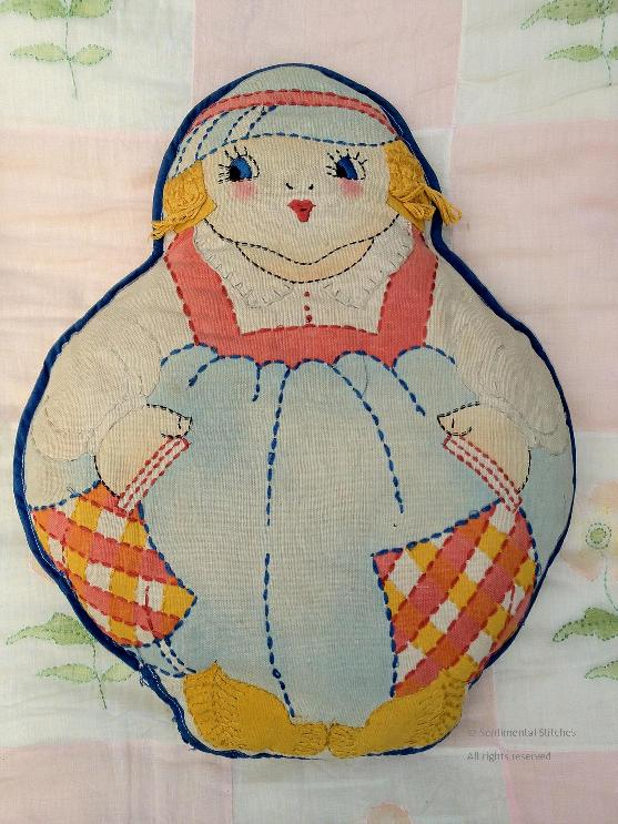 Vintage Embroidered Cloth Dolls In Embroider Me 2 Sentimental