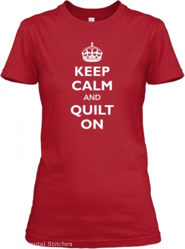 keep calm and quilt on tee