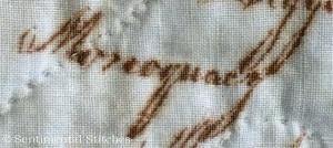 Benjamin Biggs Quilt - Signature Block 16 Monocacy spelling